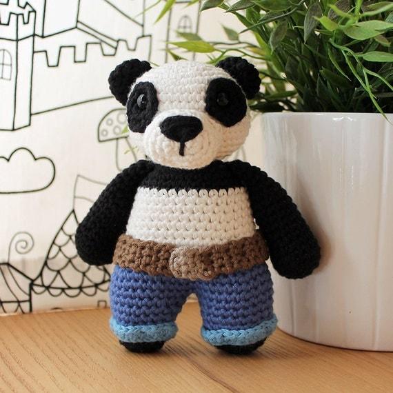 Panda - Animalius. Amigurumi Pattern PDF.