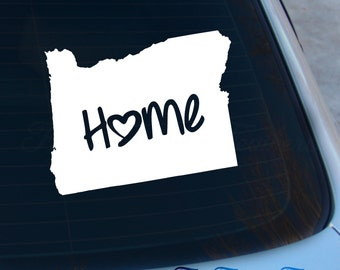Oregon Decal - State Decal - Home Decal - OR Sticker - Love - Laptop - Macbook - Car Decal