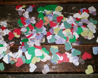 Book page confetti, children's book page confetti, Christmas confetti