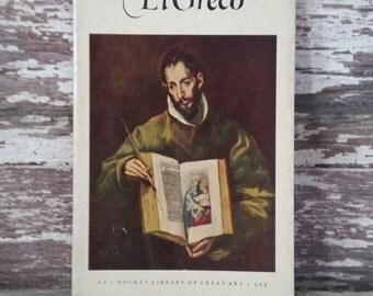 El Greco vintage book, art history book, Pocket Library of Great Art