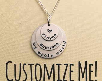 3 Disc Hand Stamped Necklace