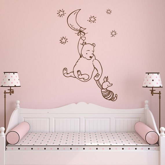 Classic winnie the pooh wall decal winnie the pooh and piglet for Classic pooh wall mural
