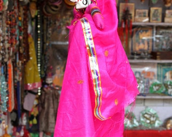 Pink Indian puppet greeting card