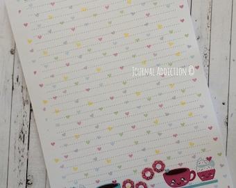 A5 Notepads - Kawaii Coffee Notepad or Checklist