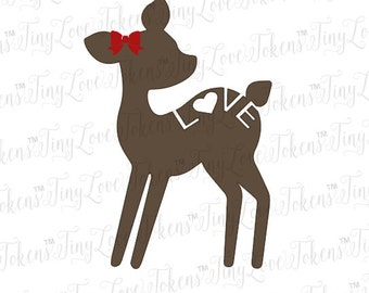 Deer Love Valentine SVG Design for Silhouette or other craft cutters (.svg/.dxf/.eps/.pdf)