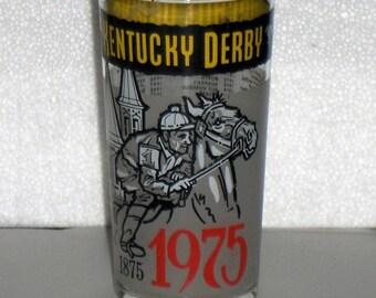 1975 Kentucky Derby Churchill Downs Glass