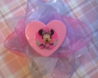 Disney Minnie inspired boutique hair bow