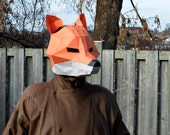 Fox Mask Papercraft DIY Animal Awesome Paper Party Mask You Make Yourself Jackal Dog Wolf Coyote Halloween Paper Craft Origami