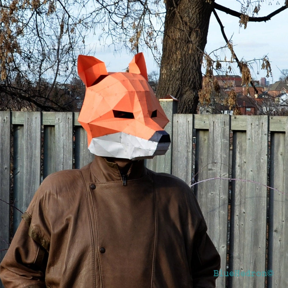 Fox Mask Papercraft DIY Animal Awesome Paper Party Mask You