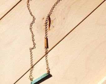 Raw Turquoise + Copper Choker