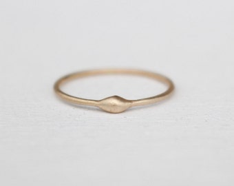 14k Gold Ring raindrop