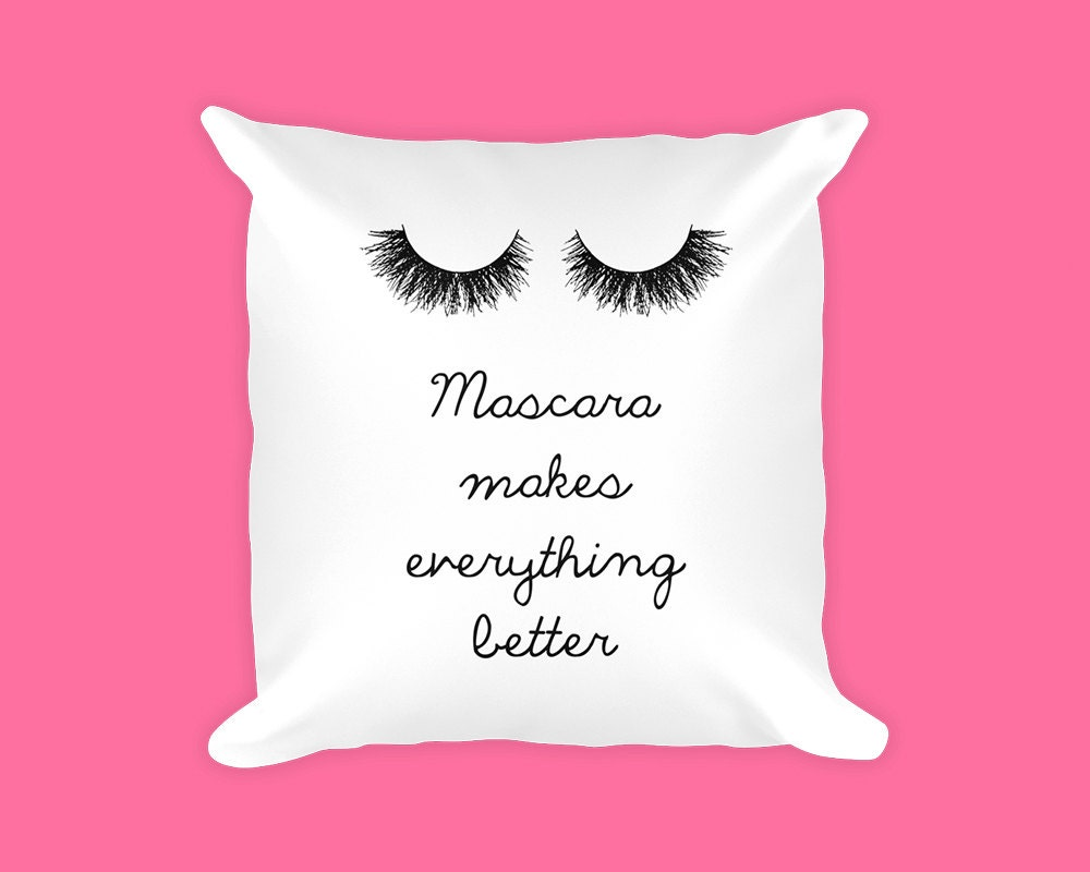 Decorative Pillows Makeup : Makeup gift Makeup pillow Pillow case Girly pillows Throw