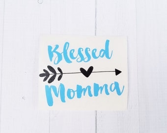 Blessed momma decal | Mama decal | Mom decal| Country girl decal | Country mom | coffee cup decal | car decal | iPhone decal | Yeti decal
