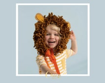 Wearable Lion Mane - costume party - animal theme party - kids costume - lion costume - lion headdress - cheersnco