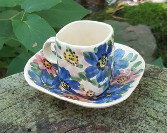 Mexican Pottery Cup Saucer