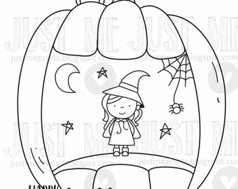 Pumpkin Carvings digital stamp set