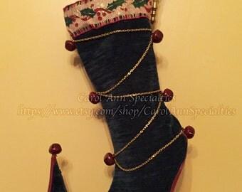 Criss-Cross Elf Stocking