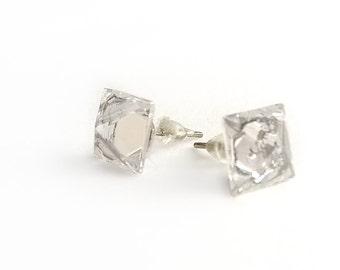 Bead crystal stud earrings