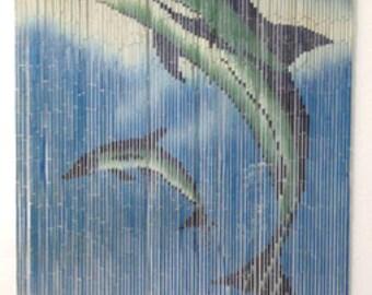 Jumping Dolphin Bamboo Curtain