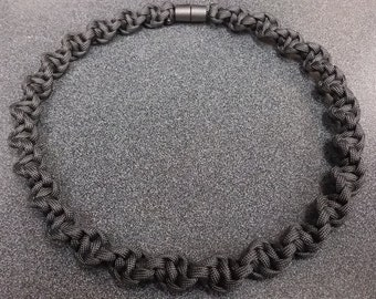 Spiral Paracord Necklace with Breakaway Clasp