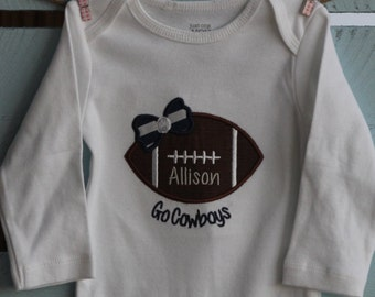 Personalized football onesie/shirt