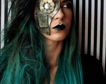 Steampunk / Post Apocalyptic mask. Fake Metal. Robot/cyborg steampunk post apocalyptic costume. halloween costume.
