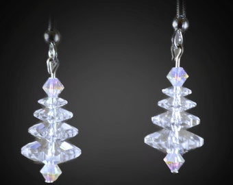 Swarovski Crystal Holiday Tree earrings