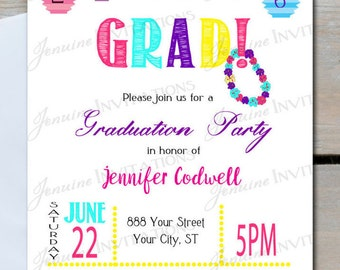 Graduation Party Invitation Luau Lanterns Birthday Any Occasion