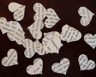 Vintage Wedding Confetti | Heart Wedding Confetti | Valentine's Table Confetti | Party Item |Table Confetti | Book Confetti | Heart Confetti