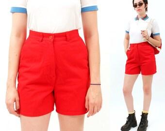 VIntage, Basic Edition, BOYS MEDIUM, Red, high waist shorts