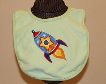Space -- Adorable Rocket Bib! For Boys or Girls