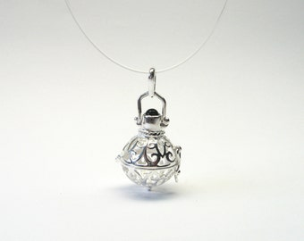 Angel Rufer with Onyx Silver 925 Angel pendant