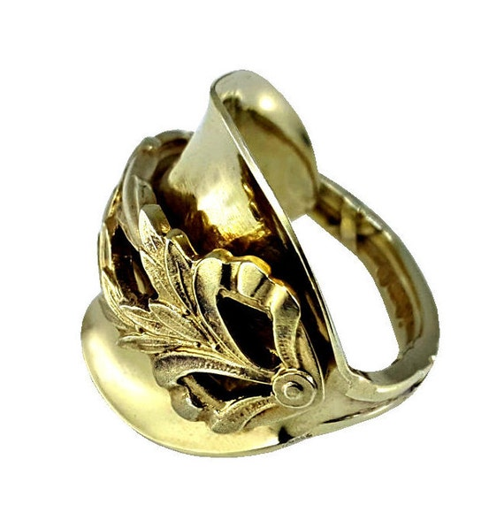 gold spoon ring whole spoon ring ornate gold by lostandforged