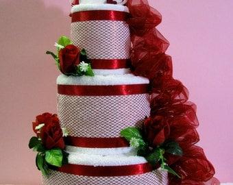 Wedding towels cake - Bride & Groom