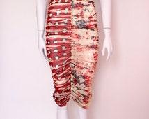 Jeans Paul Gaultier SOLEIL vintage mist summer dress draped  size M