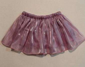 Iridescent Purple Full Gathered Summer Skirt