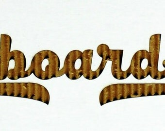 Custom cardboard logo sign