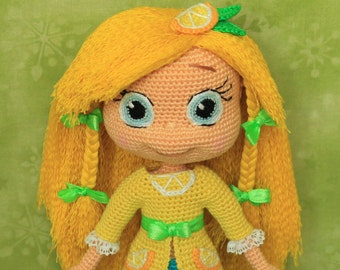 Lemon Meringue - Handmade crochet doll