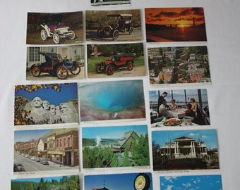 Lot of 16 Assorted Vintage Post Cards *Some with 1970's Postmarks