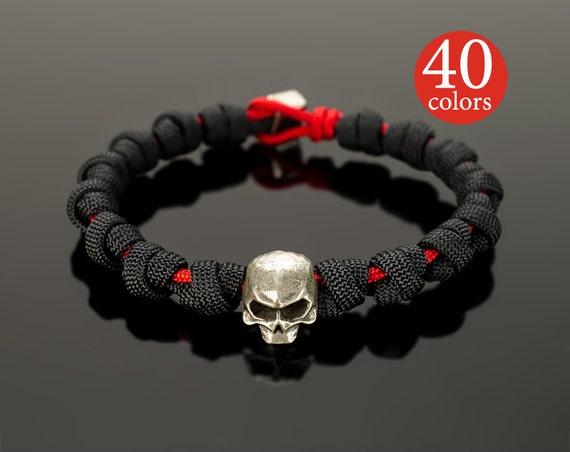 Skull Bracelet Men, skull bracelet, Black Skull Head Men Bracelets Lava Stone bracelet, lava bracelet, skull charm, bracelet for men, black WhiteluckWorkshop. 5 out of 5 stars () $ Only 1 left Favorite Add to See similar items.