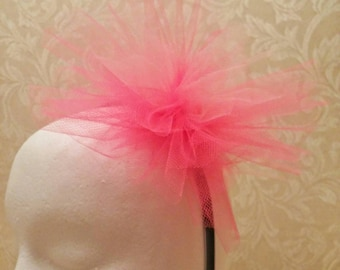 Two-Tone Pink Tulle Pouf Headband