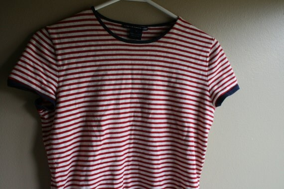 Ralph lauren red white and blue t shirt patriotic t shirt for Red blue striped shirt