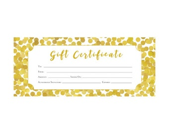 Woodland animals deer red plaid gift certificate premade gold glitter confetti gift certificate premade customer appreciation gift certificate template yelopaper Images