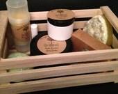 Bath and body gift basket, custom gift basket, Arcadia Bath Company gift basket