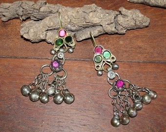 Afghan Kuchi Earrings Vintage Gypsy Earrings with Bells Boho Earrings Festival Earrings