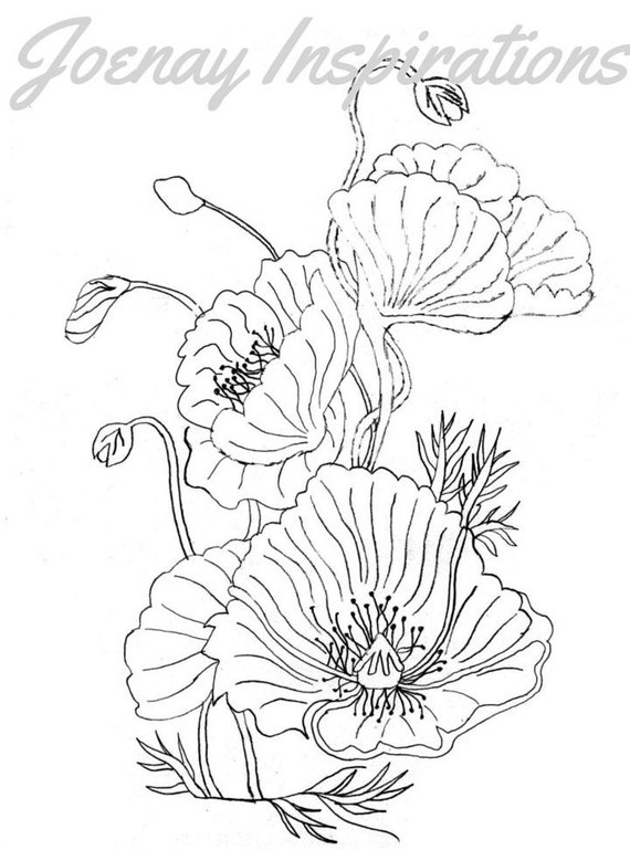 Adult Coloring Book, Printable Coloring Pages, Coloring Pages, Coloring Book for Adults, Instant Download, Fancy Flowers 1 page 7
