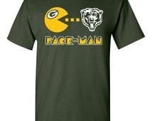 Green Bay Packers inspired shirt - Sizes S to 5XL - parody football tee t-shirt sunday funday fun day chicago bears rivalry packman lombardi