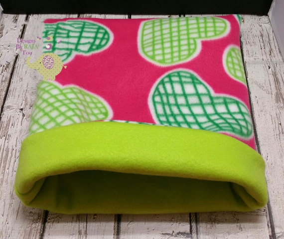 Fleece Cozy Cup Snuggle Sack Bed Tube Guinea By