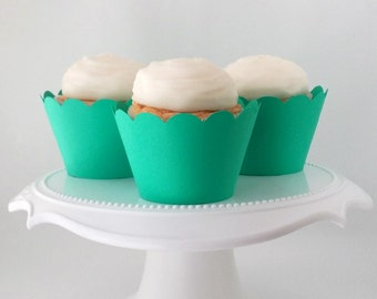 CLEARANCE - Set of 12 Cozumel Cupcake Wrappers – For Standard Sized Cupcakes - Ready To Ship