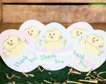 DIY Easter card - Surprise Eggs Thank you card - PDF Printable -